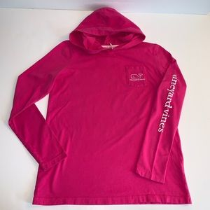 Vineyard Vines Girls Long Sleeve Hoodie Shirt L